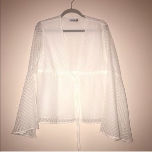Vagabond white boho long sleeve top